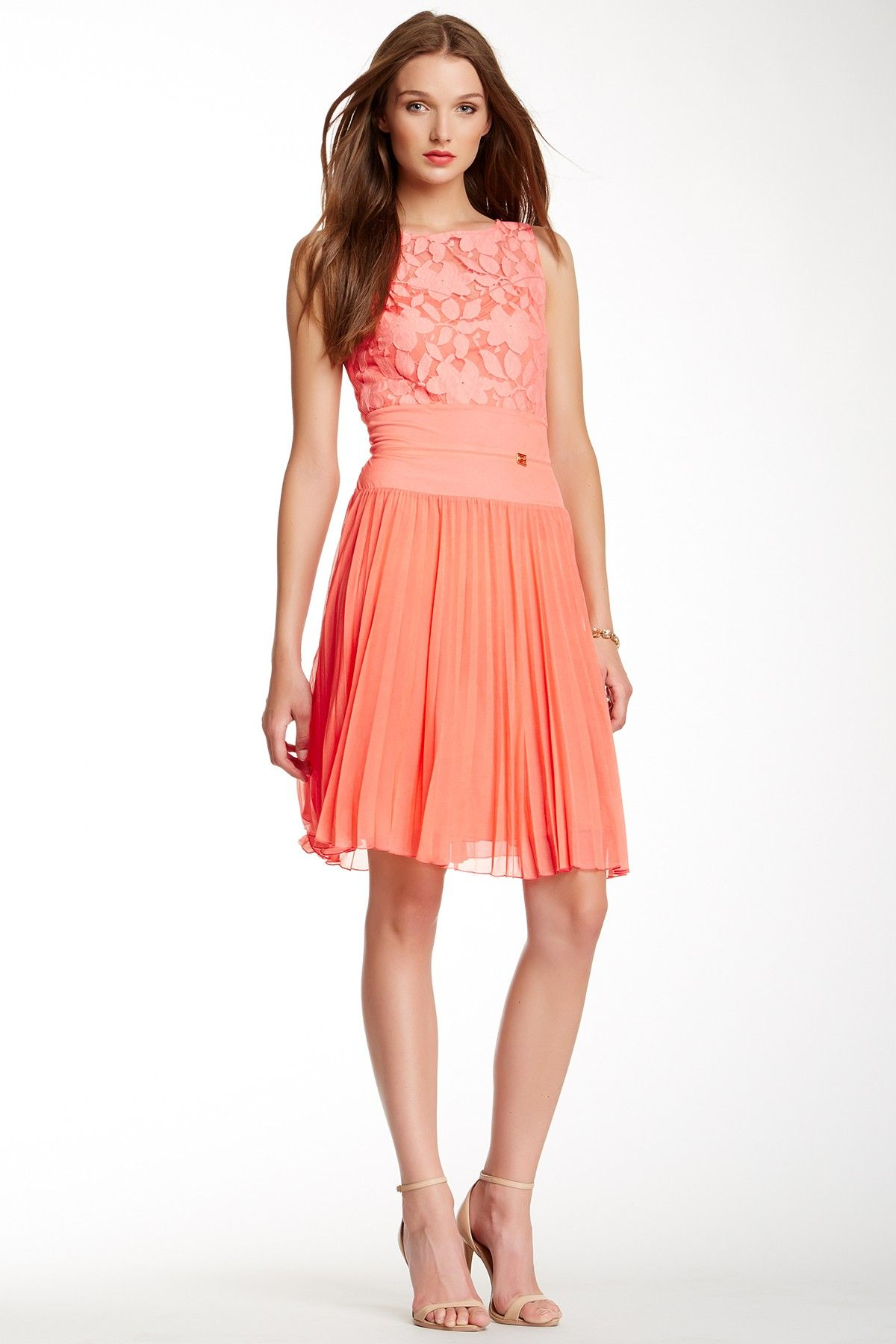 Lace Sleeveless Pleated Dress on HauteLook