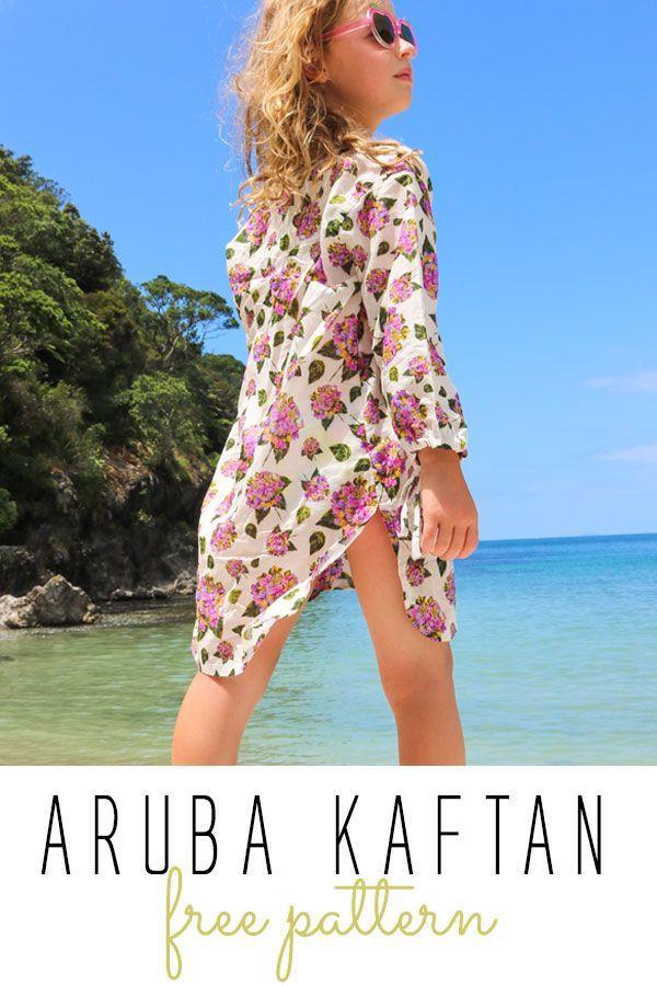 FREE! Sewing pattern for girls. Aruba Kaftan easy summer. Download ...