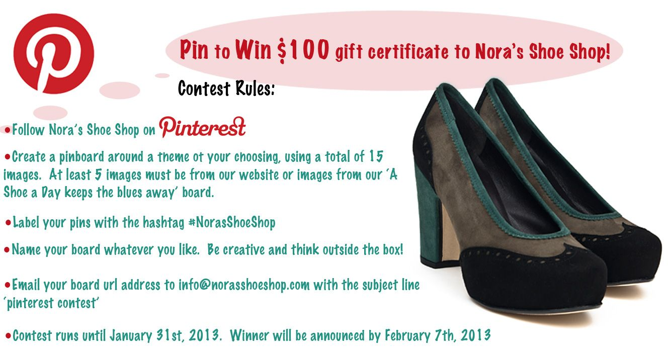 Join In On Our Pinterest Contest Winner Gets A Gift Certificate