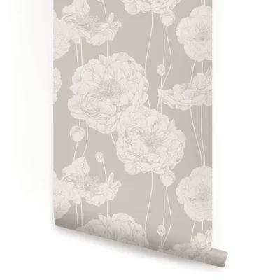 Mullen Peony Peel And Stick Wallpaper Panel Peony Wallpaper Wallpaper Panels Fabric Wallpaper