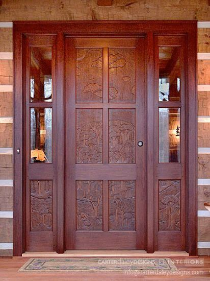 Hand carved mahogany front door & Hand carved mahogany front door | Carte Daley Designs Portfolio Work ...