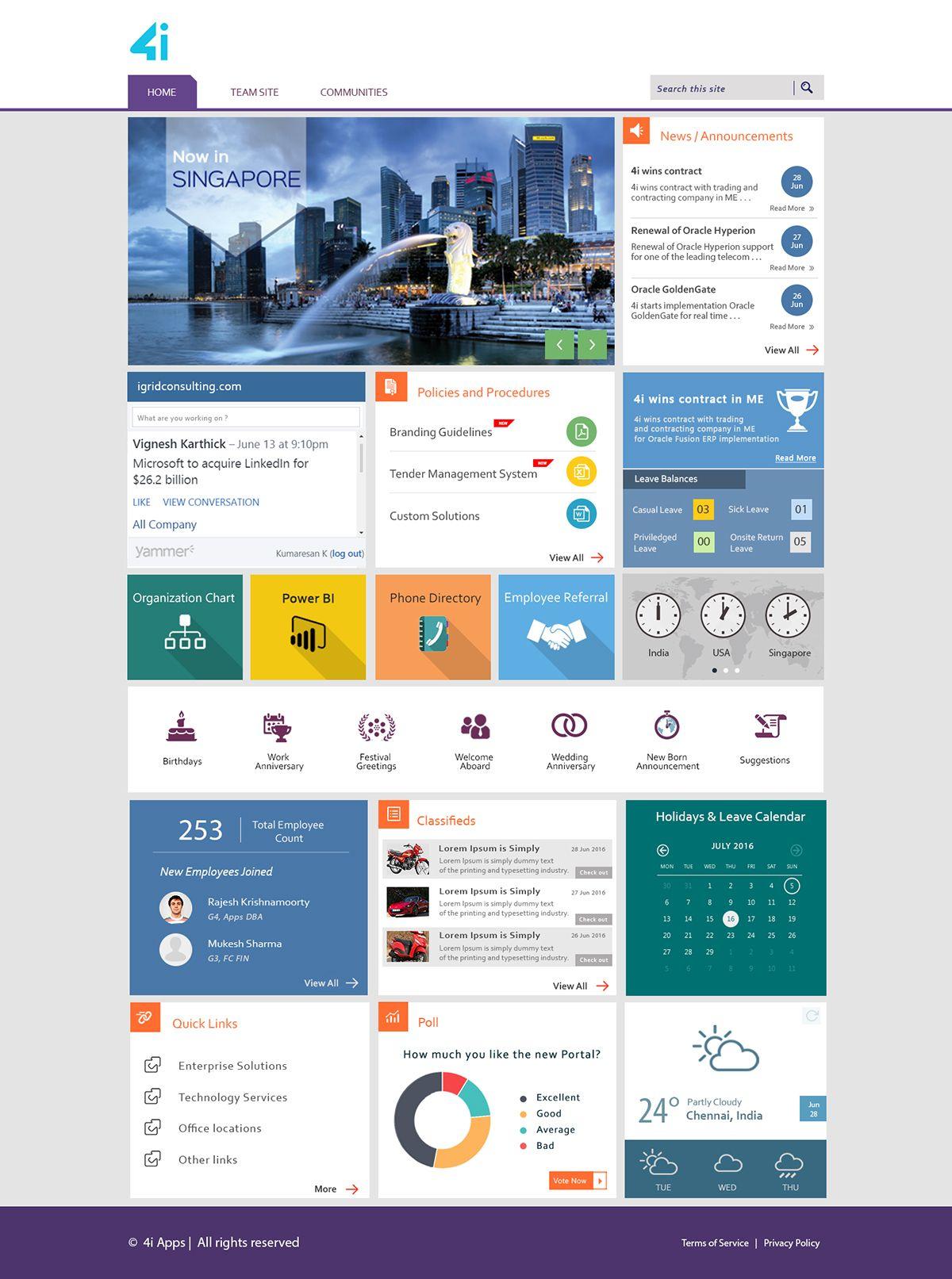 intranet on Behance   Sharepoint design, Sharepoint
