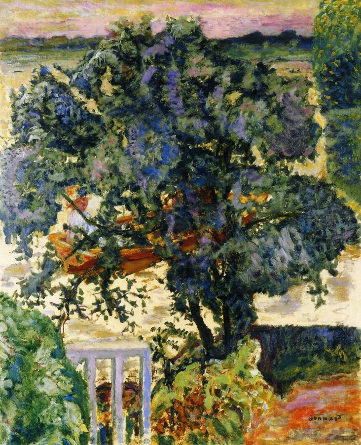 (POST IMPRESSIONISM) Tree by the River, by Pierre Bonnard, 1909. Style: Post-Impressionism, Genre: landscape, Technique: oil, Material: canvas, Dimensions: 102 x 81.5 cm, Gallery: Private Collection
