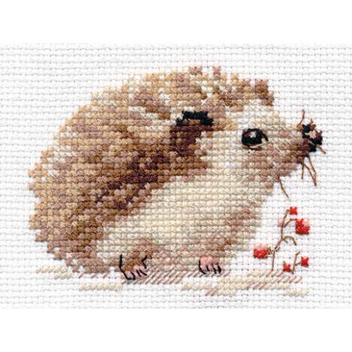Photo of Counted Cross Stitch Kit ALISA – Hedgehog  | eBay