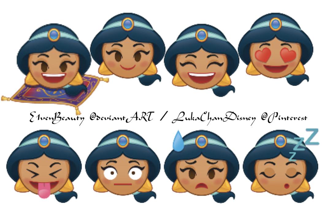 Jasmine X8 Feat The Magic Carpet All As Emojis Drawing By Disney Aladdin Disney Emoji Blitz Disney Emoji Emoji