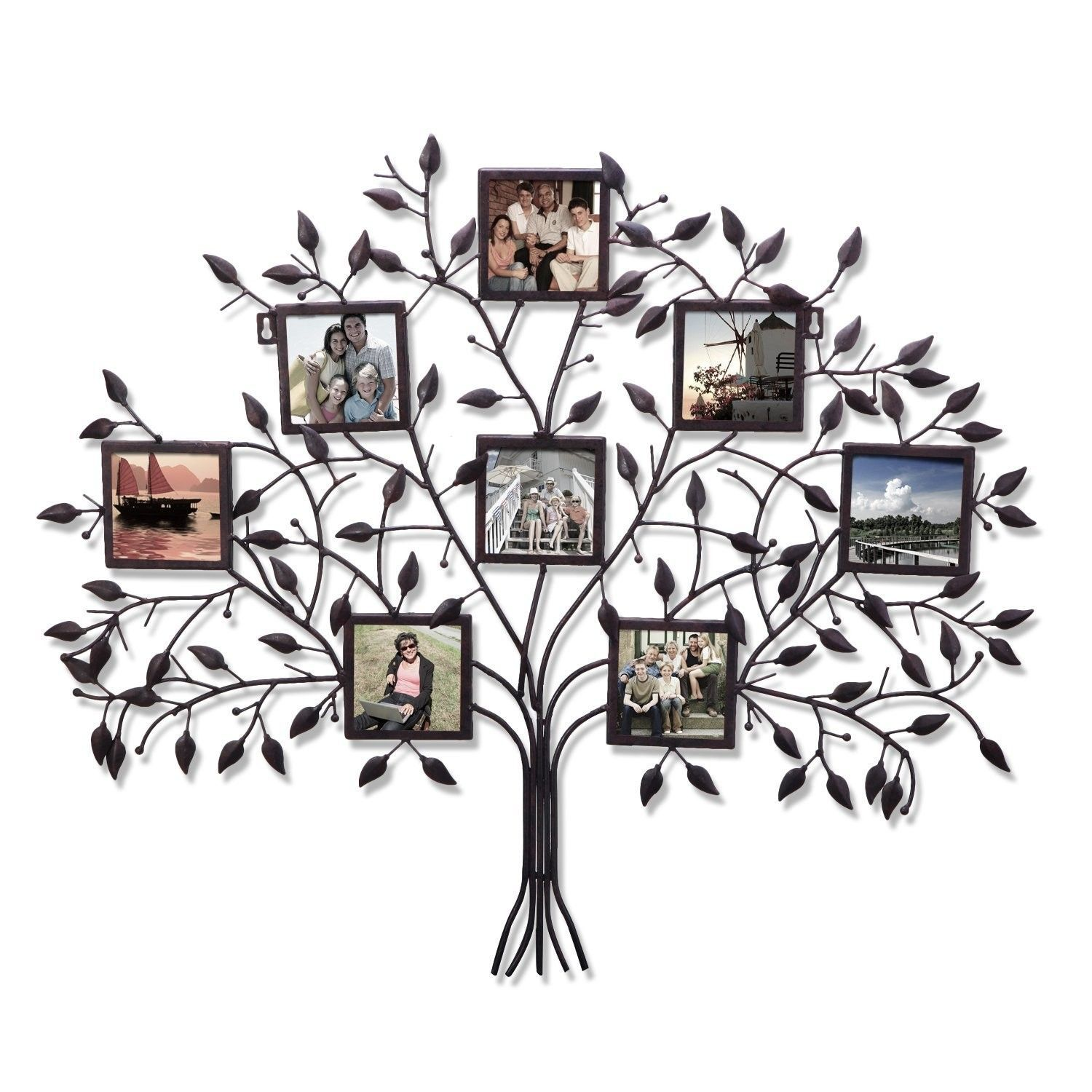 7 Opening Decorative Family Tree Wall Hanging Collage Picture Frame ...