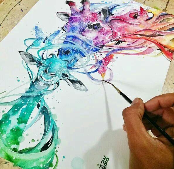 Fabulos Watercolor Painting By Luqman Reza Mulyono Jongkie