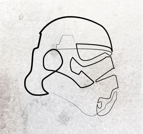 Storm Trooper Tattoo Minimal