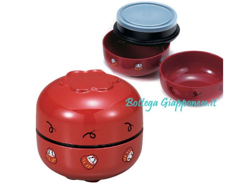 Bento lunch box daruma tondo