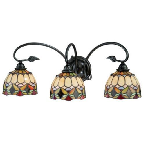 This Belle 3 Light 26 In Oil Shale Vanity Light Is Beautifully