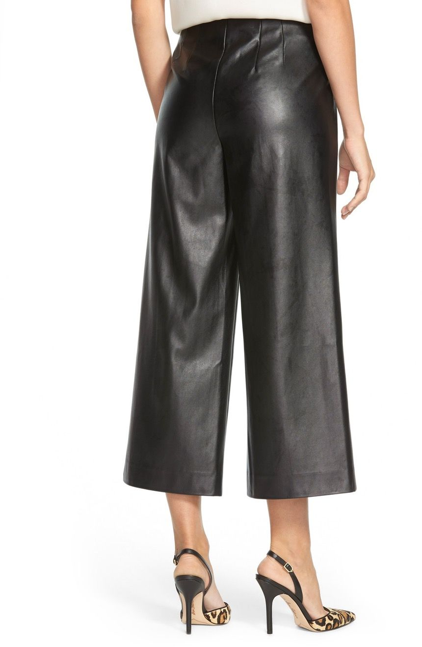 123adc1dfe672c Main Image - Vince Camuto Side Zip Faux Leather Culottes | Culottes ...