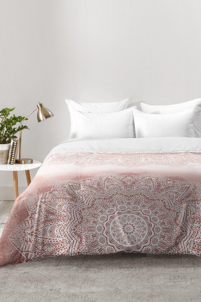 Monika Strigel There Goes The Fear Rose Blush Comforter Duvet