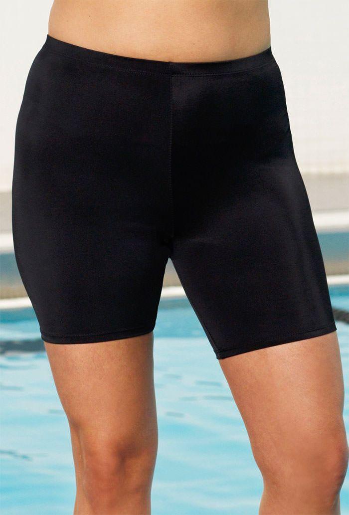 93274aa5a0252 Chlorine Resistant! Aquabelle Black Plus Size Bike Short