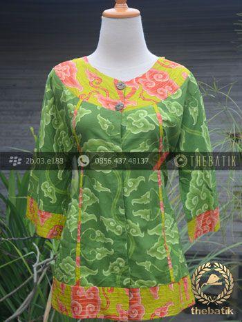Jual Model Baju Batik Mega Mendung Wanita Modern Baju Batik