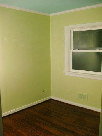 Pear Green Walls A Light Blue Ceiling For The Nursery Young House Love Blue Ceilings Marble House Painted Ceiling
