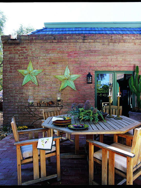Exterior Trim Colors For A Reddish Pink Brick Ranch Style Home Design Pictures Southwest Decorsouthwestern
