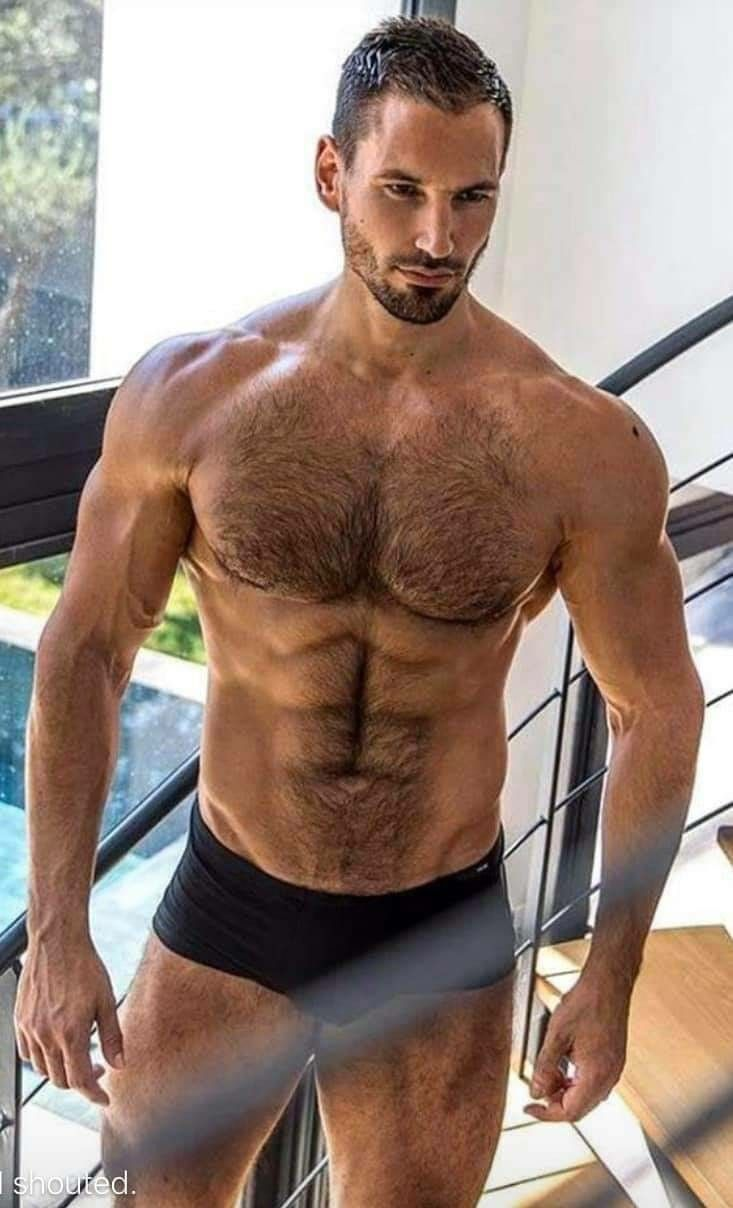 Pin on Hairy Muscle Men