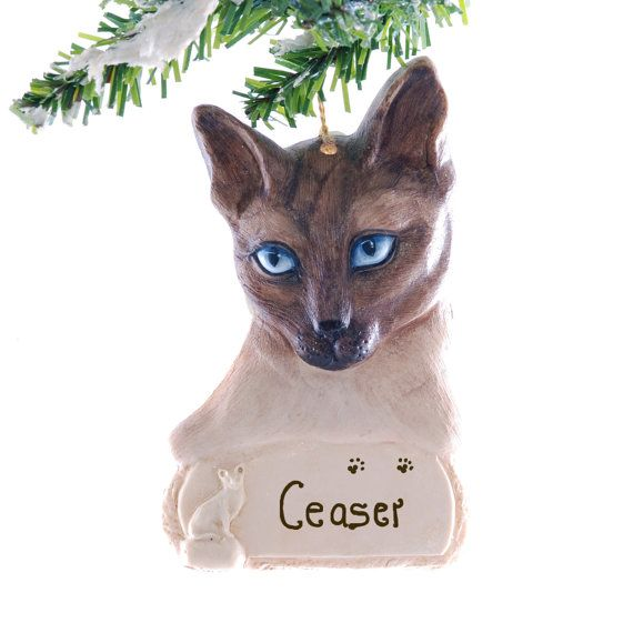 Personalized Siamese Cat Christmas Ornament by ...
