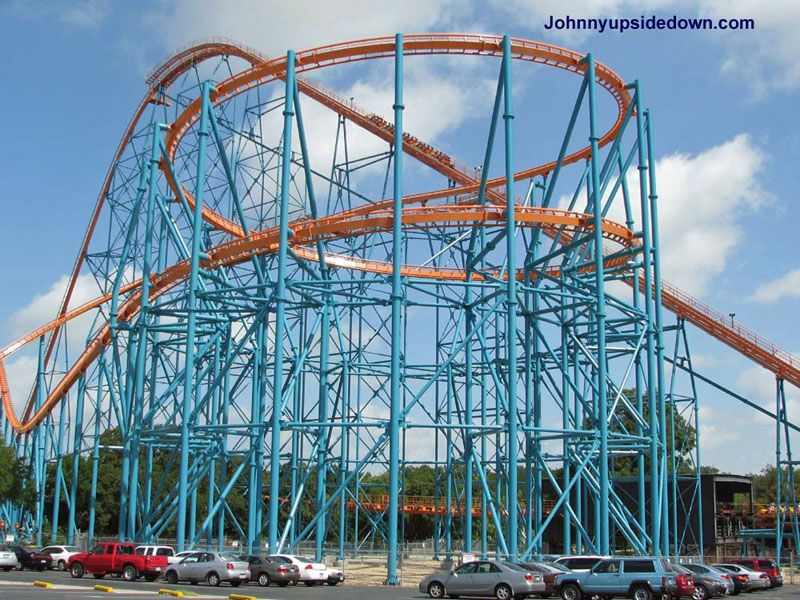 Titan Six Flags Over Texas Arlington Texas Usa Six Flags Over Texas Six Flags Roller Coaster Ride