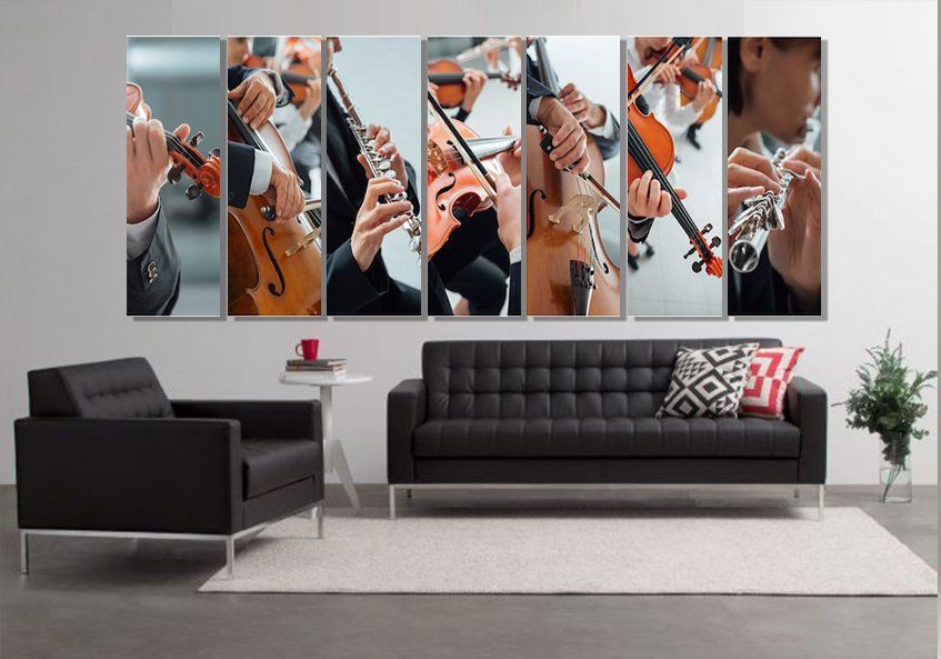 Classical Music Collage Canvas Print Abstract Music Wall Art