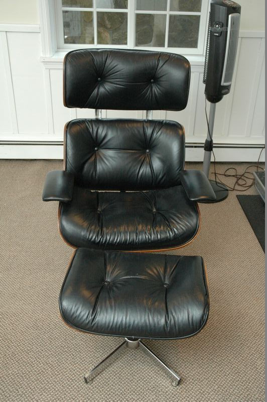 Nice Herman Miller (cant Find Label/markings), Eames Style Leather And Wood Chair