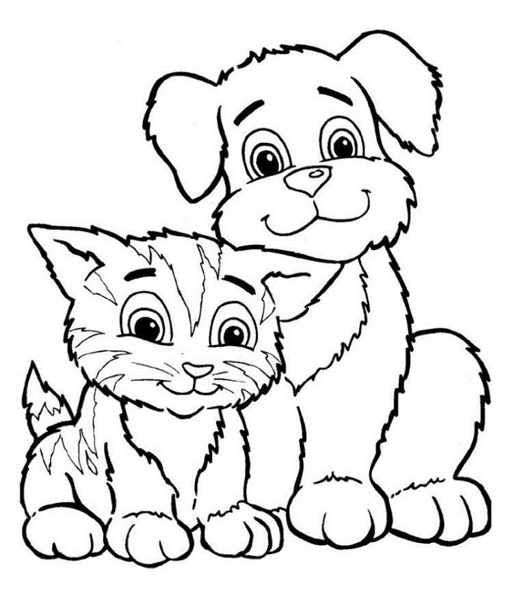 - Printable Puppy And Kitten Coloring Pages In 2020 Dog Coloring Page, Puppy  Coloring Pages, Cat Coloring Page