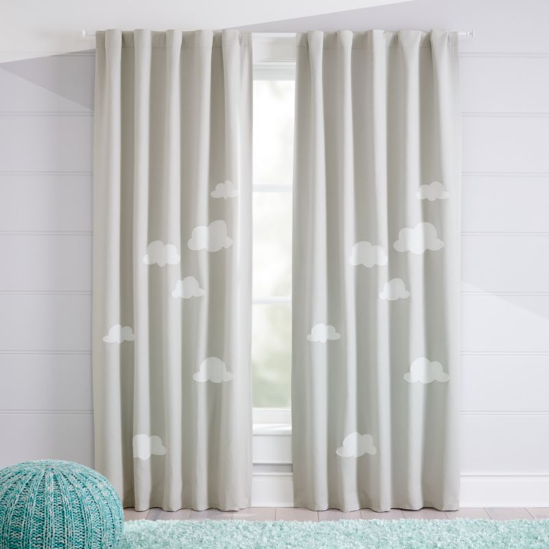 Cloud Blackout Curtains Crate And Barrel Cool Curtains Baby Curtains Kids Curtains