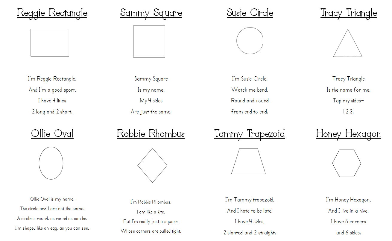 Shape Poems We Are Reviewing 2 Dimensional Shapes This