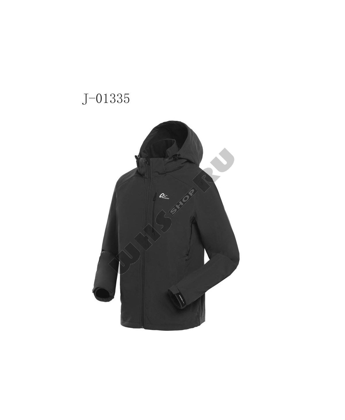 3c690a3a8e5 ✓ Куртка зимняя виндстопер Moslav J-01335 -10 °C (черная) ▫ Цена ...