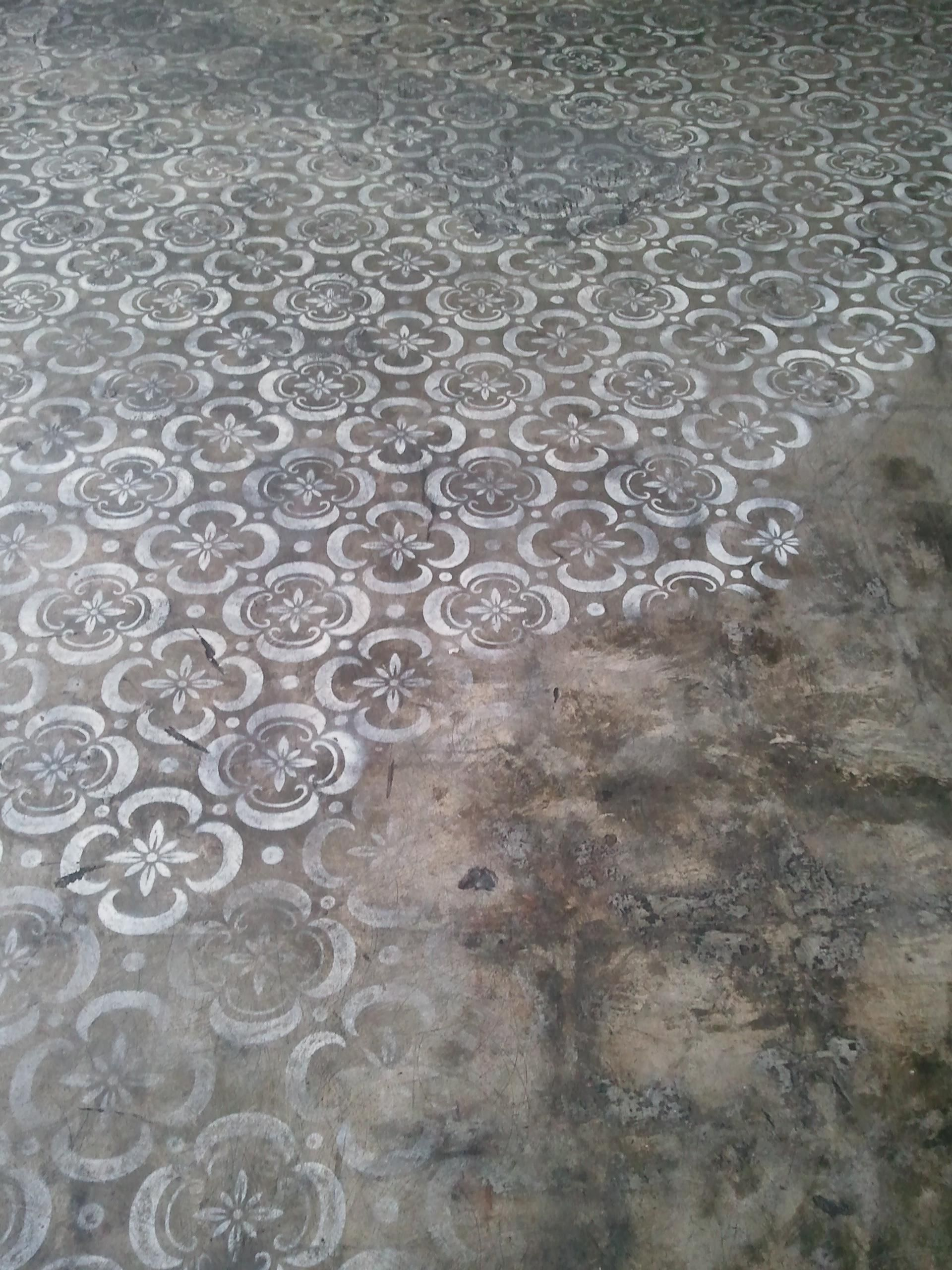 Concrete Floor Stencilling Painted
