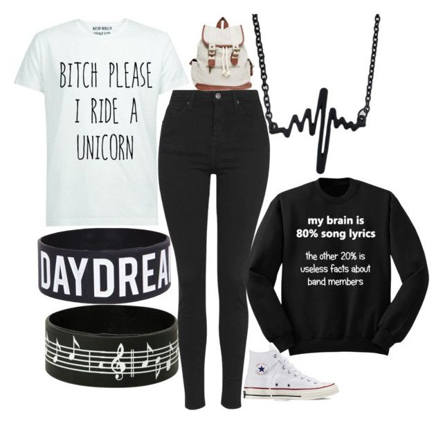 """""""White and Black Babe"""" by elli-jane-xox ❤ liked on Polyvore featuring Topshop, Converse and Wet Seal"""