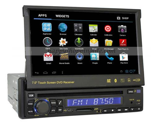 1 Din Android 4 0 Car Pc With Dvd Player Gps Navigation Wifi 3g