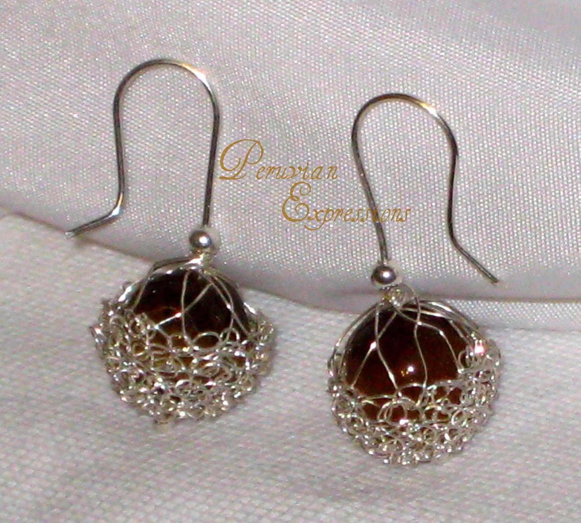 joyas tejidas a mano en punto peruano, joyas de plata tejidas, joyas ...