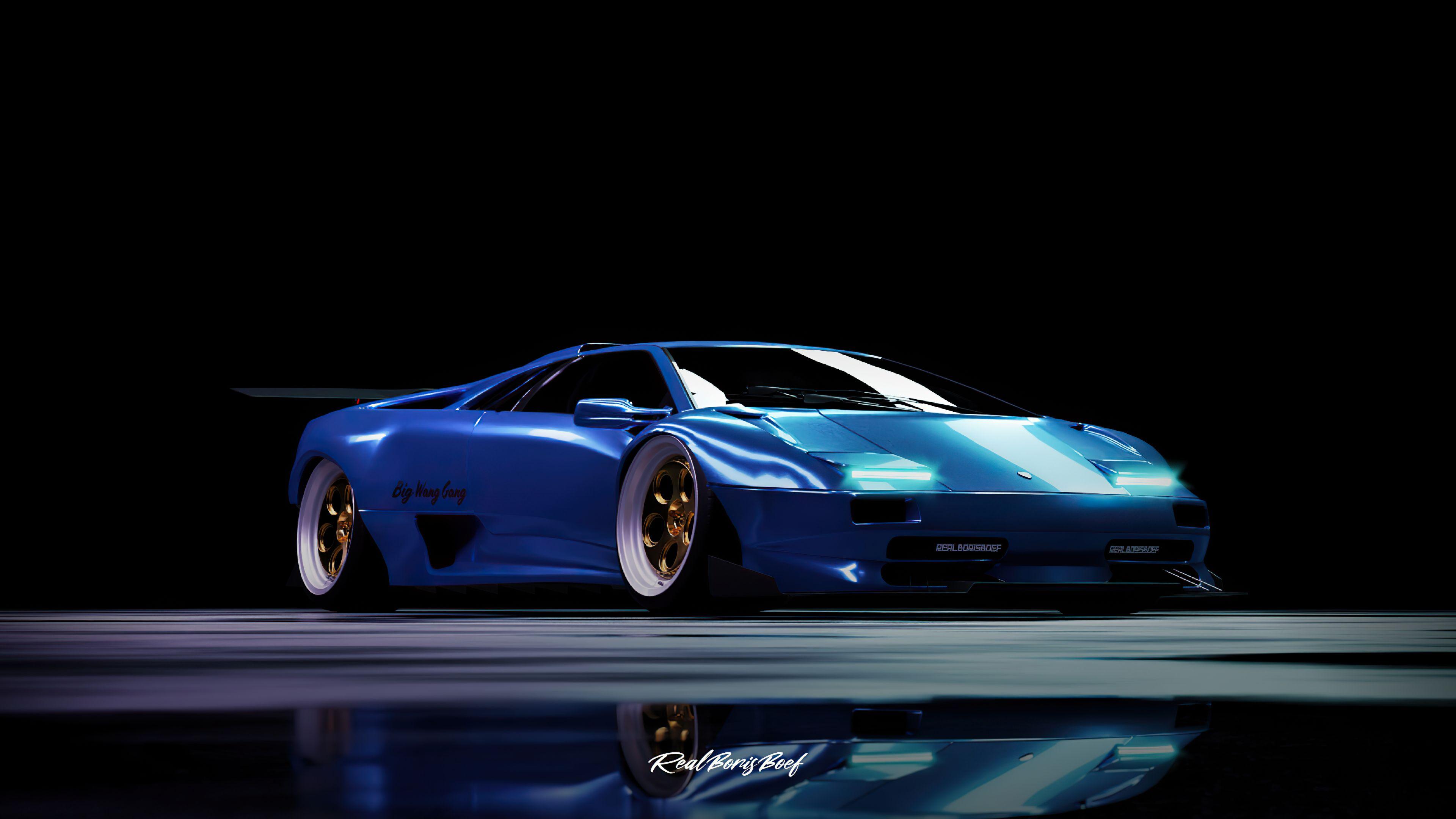 Custom Widebody Lamborghini Diablo 4k 2020 Lamborghini Diablo Lamborghini Hd Widescreen Wallpapers