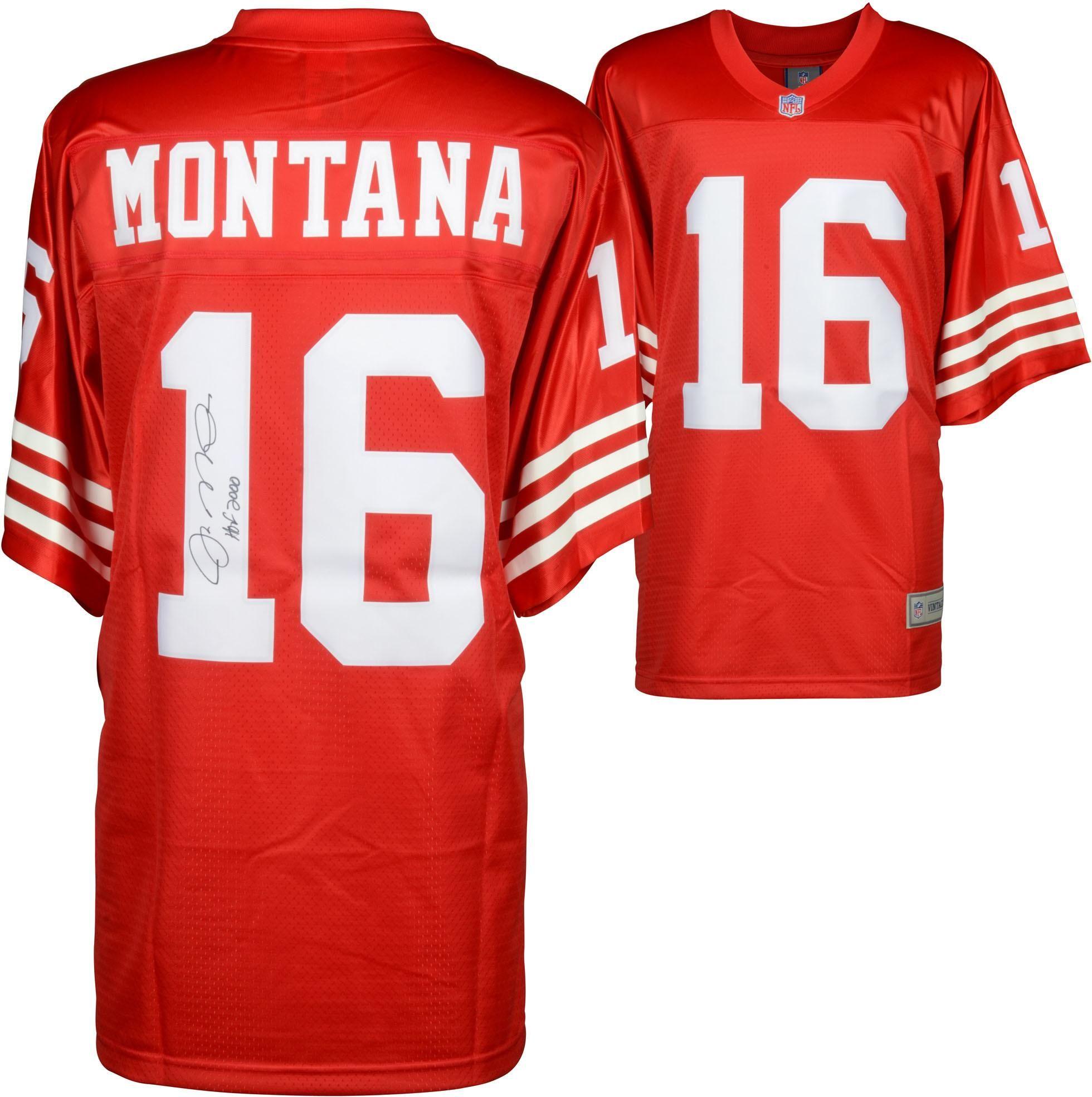 ec4b5f26d Joe Montana NFL 49ers Signed Jersey with HOF Insc Fanatics Authentic ...