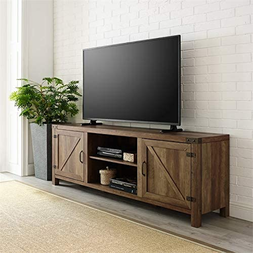 Amazon Com New 58 Inch Wide Barnwood Finish Television Stand