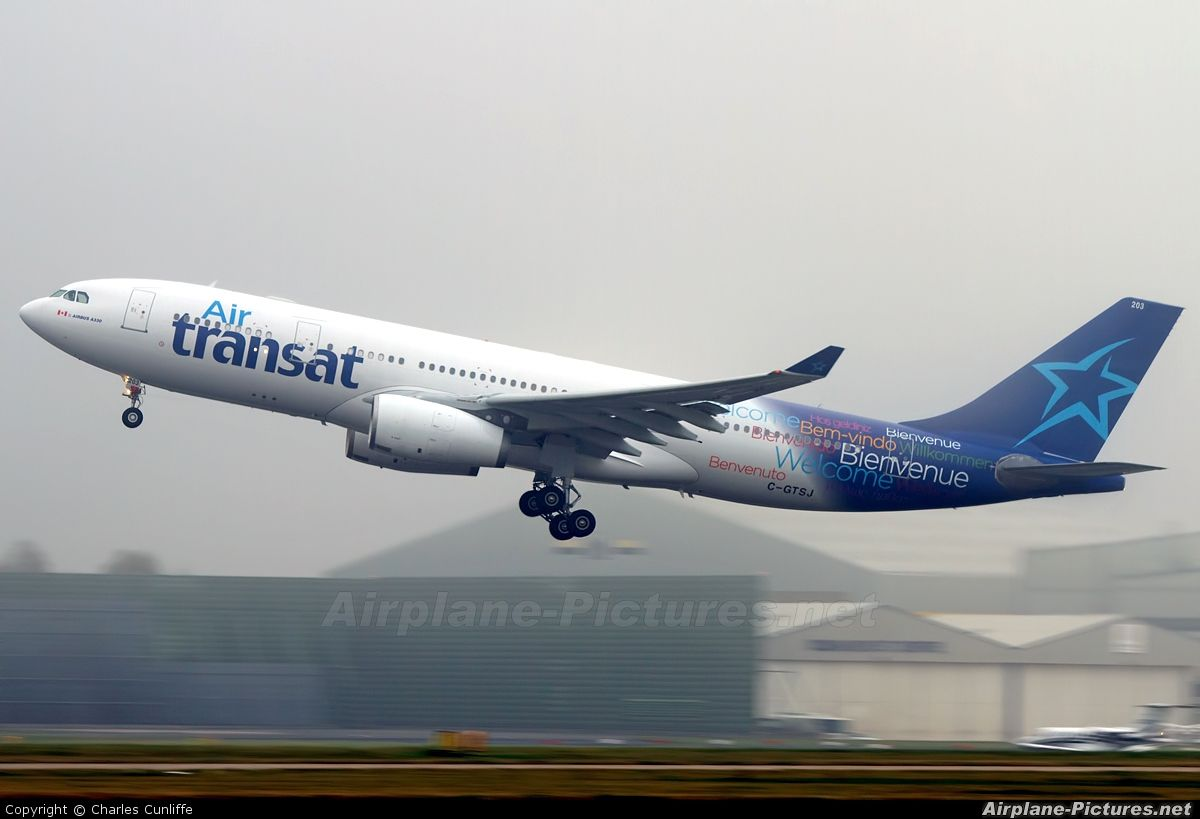 Transat Design Air Transat Airbus A330 200 Our New Design Logo Airplanes