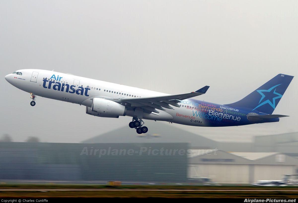 Air Transat Airbus A330 200 Our New Design Logo Airplanes Air