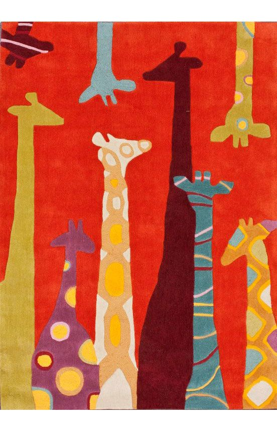 Rugs Usa Trendz Giraffe Orange Rug Baby Fever