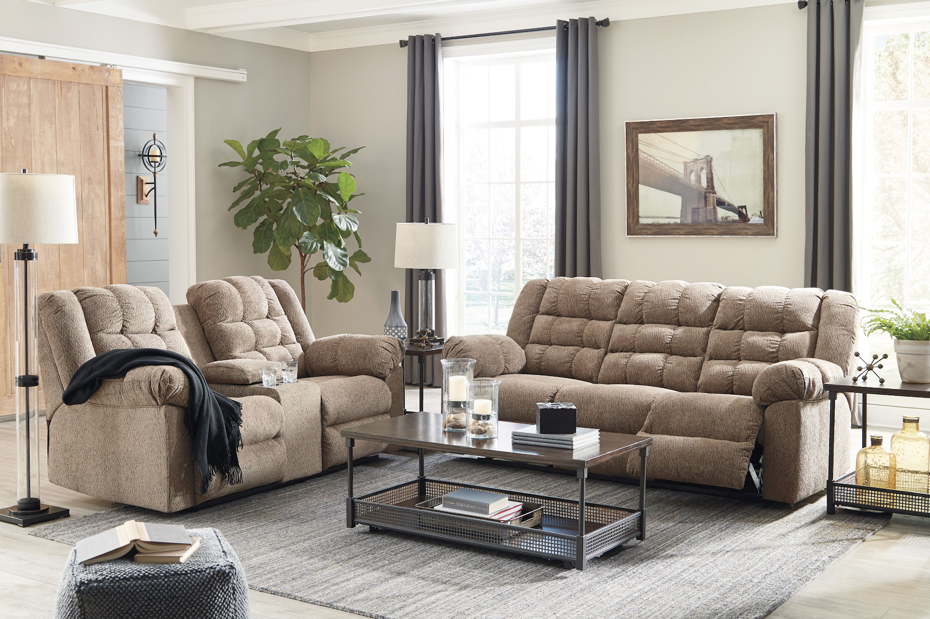 Fabulous Ashley Workhorse Reclining Sofa Living Room Sets Machost Co Dining Chair Design Ideas Machostcouk
