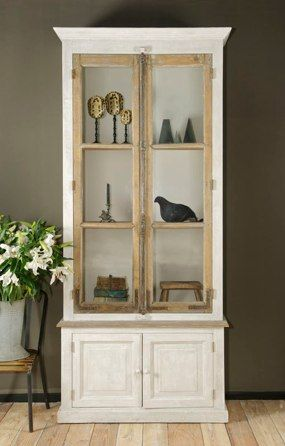 Bobo Intriguing Objects French Bakery Cabinet With Salvaged Windows