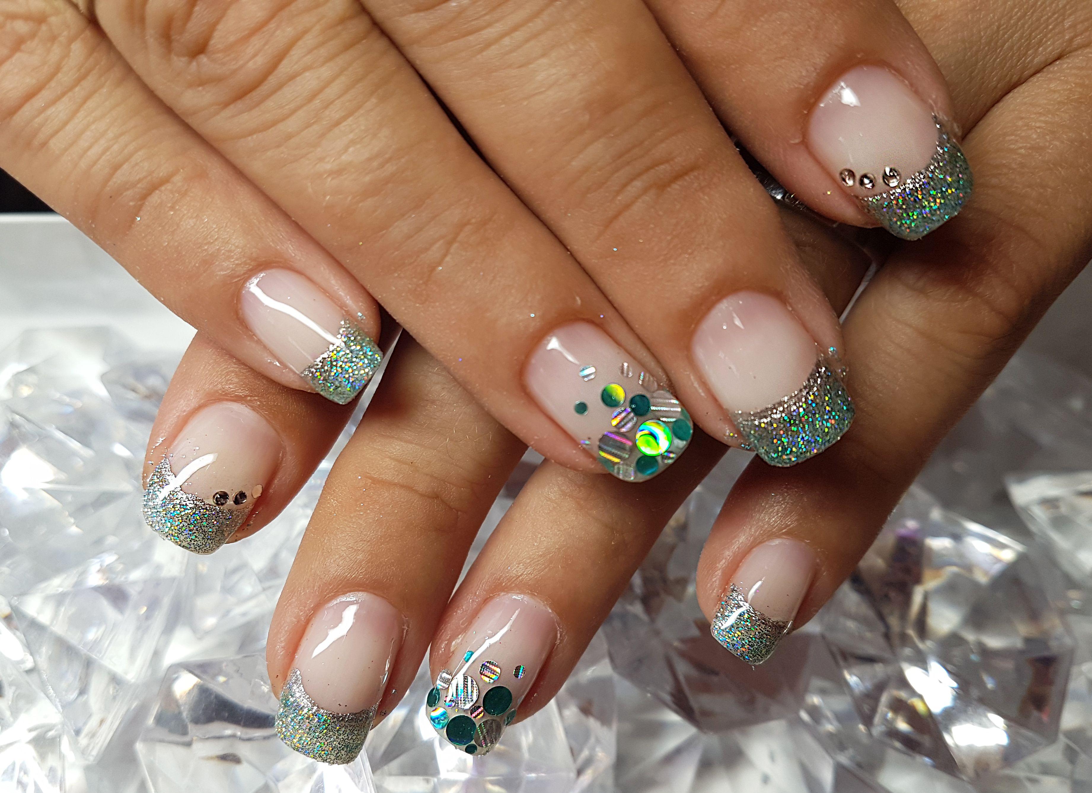 french glitter nails | My nails | Pinterest | Glitter nails