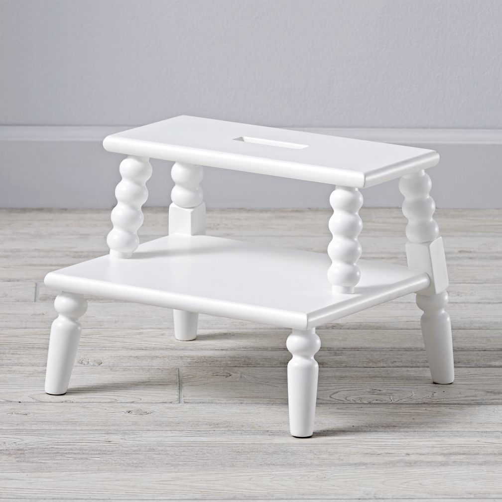 Miraculous Jenny Lind White Step Stool Crate And Barrel Home Ideas Lamtechconsult Wood Chair Design Ideas Lamtechconsultcom