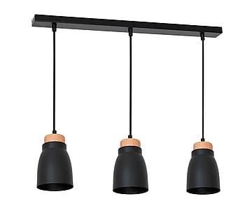 Lámpara de techo de metal y madera Don - negro  sc 1 st  Pinterest & Lámpara de techo de metal y madera Don - negro   lámparas   Pinterest azcodes.com