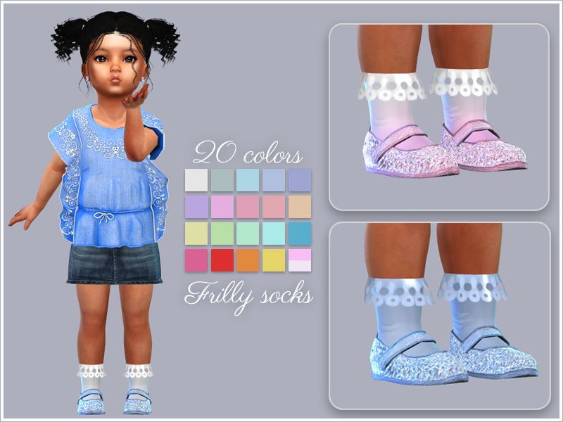 87cec4116 Giulietta-Sims  Frilly Socks For Toddlers