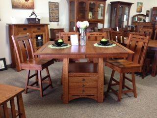 Amish Made Pub Height Dining Set Deutsch Furniture Haus Rochester, MN