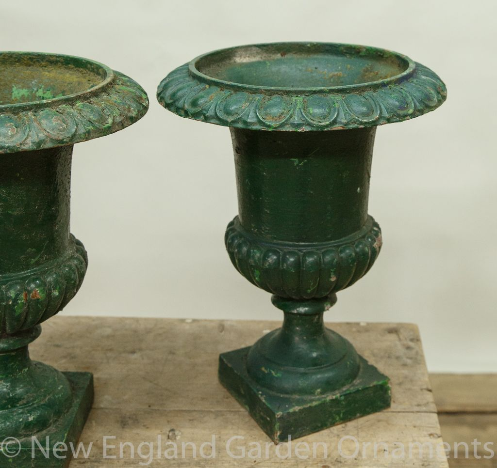 Vintage Pair Of Urns New England Garden Ornaments In 2020 Garden Ornaments For Sale Garden Ornaments Lovely Antiques