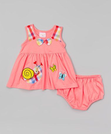 Love this Pink Snail Dress & Diaper Cover - Infant on #zulily! #zulilyfinds