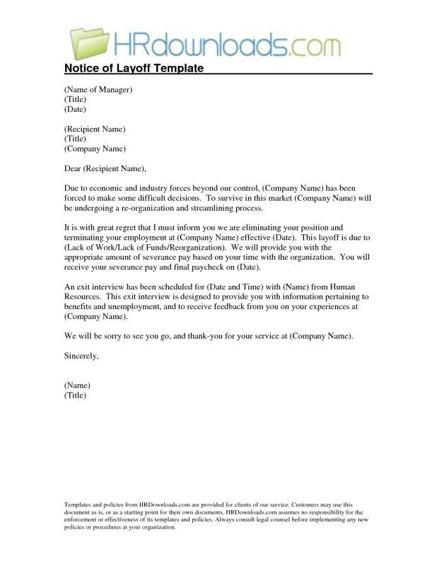 Sample Layoff Letter To Employees from i.pinimg.com