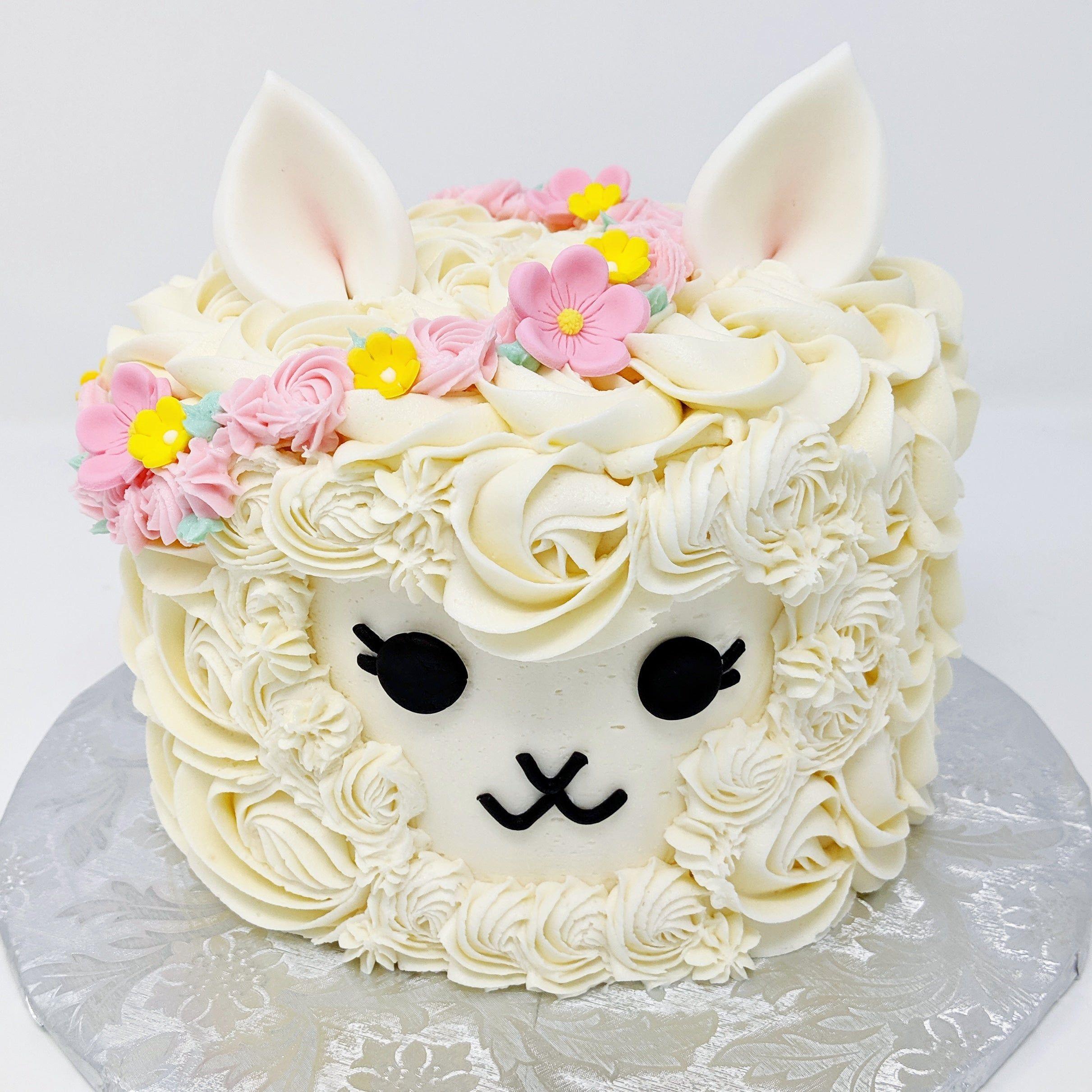 I made a cute Llama cake! And to think, tomorrow a one